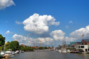 Der Leeraner Seehafen