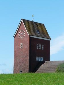 Kirchturm der Kirche auf Baltrum