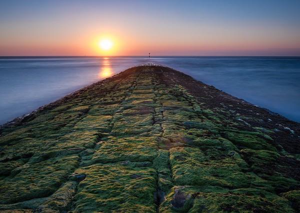 Sonnenuntergang auf der Insel Baltrum