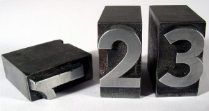 Zahleinreihe 1, 2, 3