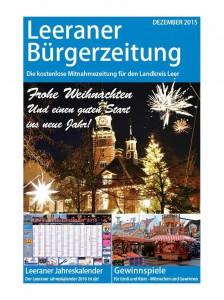 Cover der Dezember-Ausgabe der Leeraner Bürgerzeitung