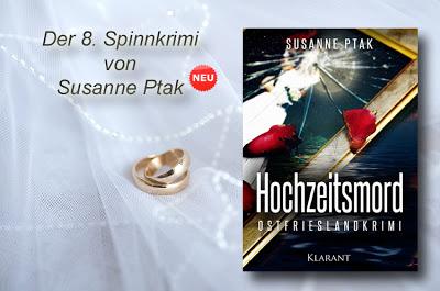 """Banner zum Ostfriesenkrimi """"Hochzeitsmord"""" von Susanne Ptak"""