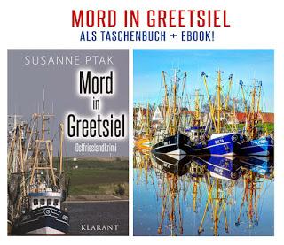 Banner für Ostfriesenkrimi Mord in Greetsiel von Susanne Ptak