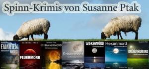 Ostfriesenkrimi Banner zu den Spinnkrimis von Susanne Ptak