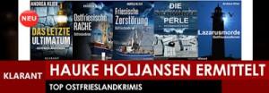 Banner zu den 5 Ostfriesenkrimis von Andrea Klier