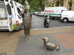 Statue des Kommissars Columbo