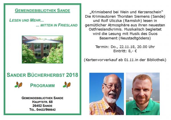Lesung Rolf Uliczka und Thorsten Siemens