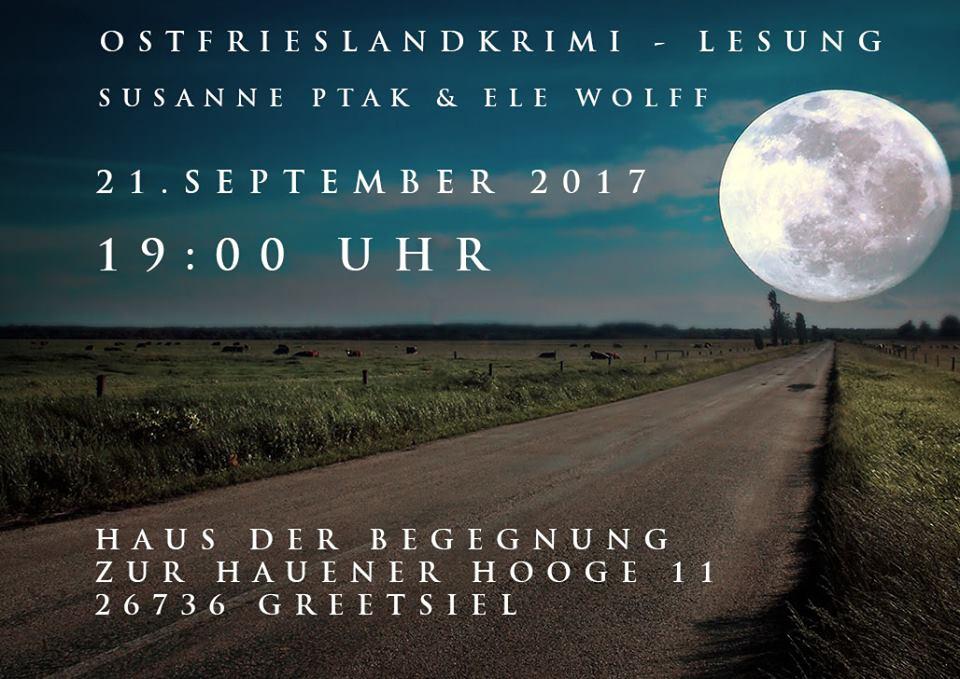 Banner Ostfrieslandkrimilesung Greetsiel