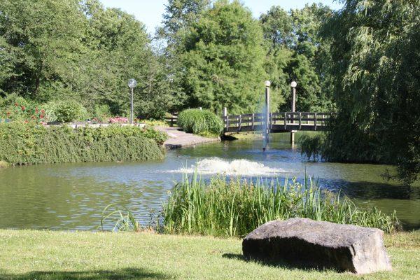 Von-Thünen-Park - Blick auf die Fontainenanlage