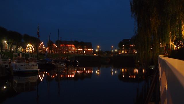Museumshafen Carolinensiel Nacht