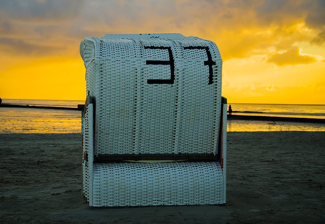 Strandkorb Abend Norddeich