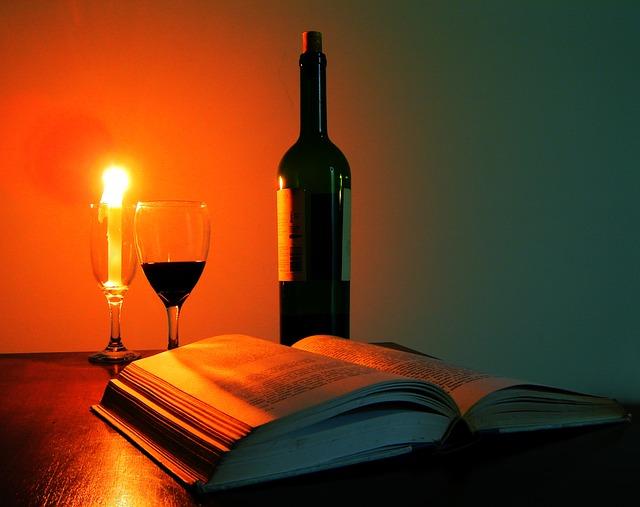 Lesung bei Wein und Kerzenschein