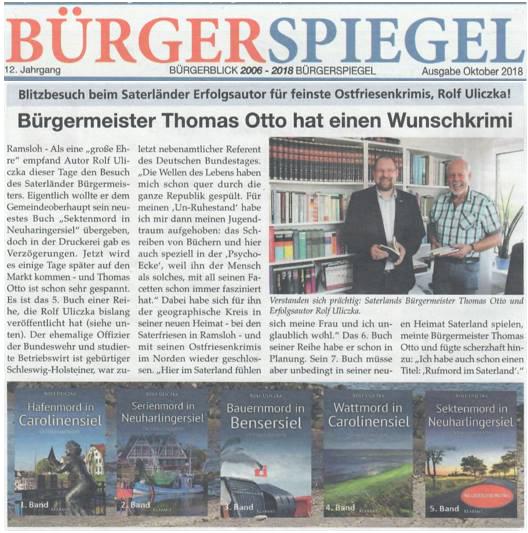 BÜRGERSPIEGEL Presseartikel Rolf Uliczka