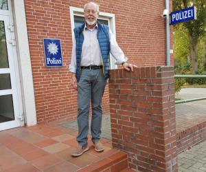 Autor beim Kommissariat in Wittmund