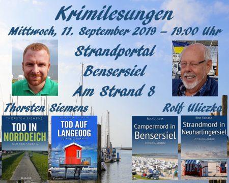 Ostfriesenkrimi-Lesung in Bensersiel