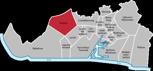 Twixlum Emden Map