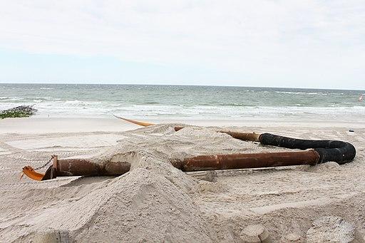 Sandvorspülung_Rohrleitung