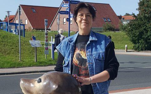 Autorin Susanne Ptak in Norddeich,