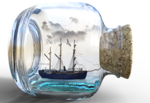 Buddelschiff im Krimi von Alfred Bekker