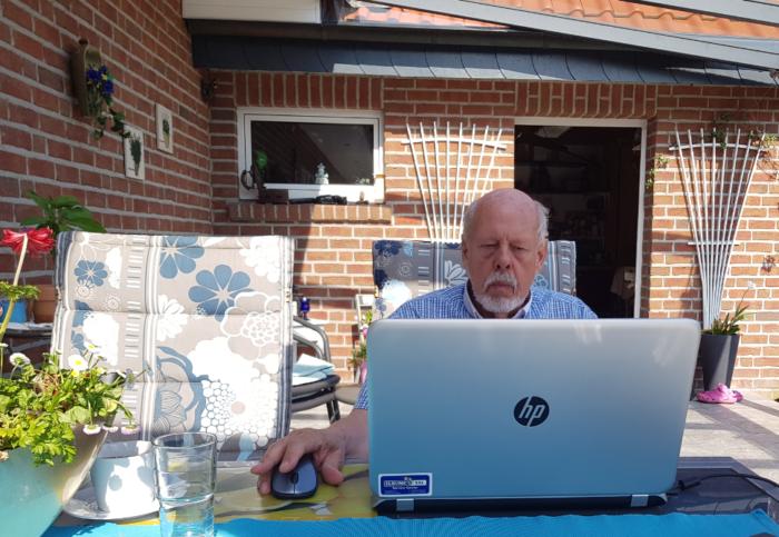 Rolf Uliczka bei der Arbeit