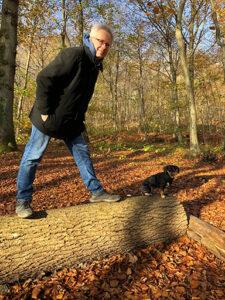 Marc Freund und Hund Lilli